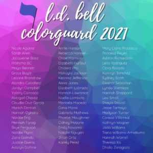 2021-2022 LD Bell Band Color Guard